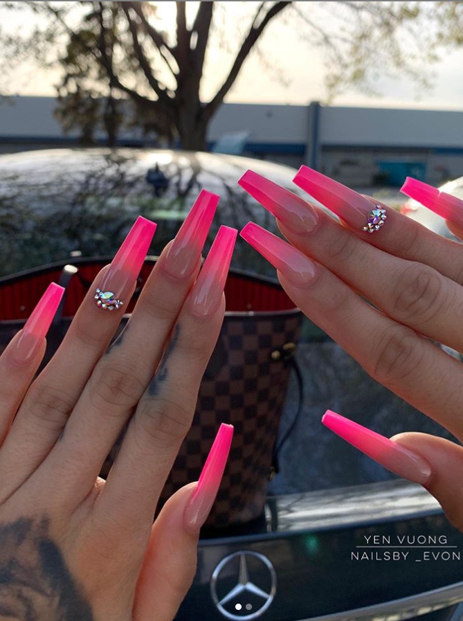 54 Awesome Acrylic Coffin Nails Design Ideas For Fall Page 48 Of 54 Latest Fashion Trends For Woman Coffin Nails Designs Stiletto Nails Designs Nail Designs