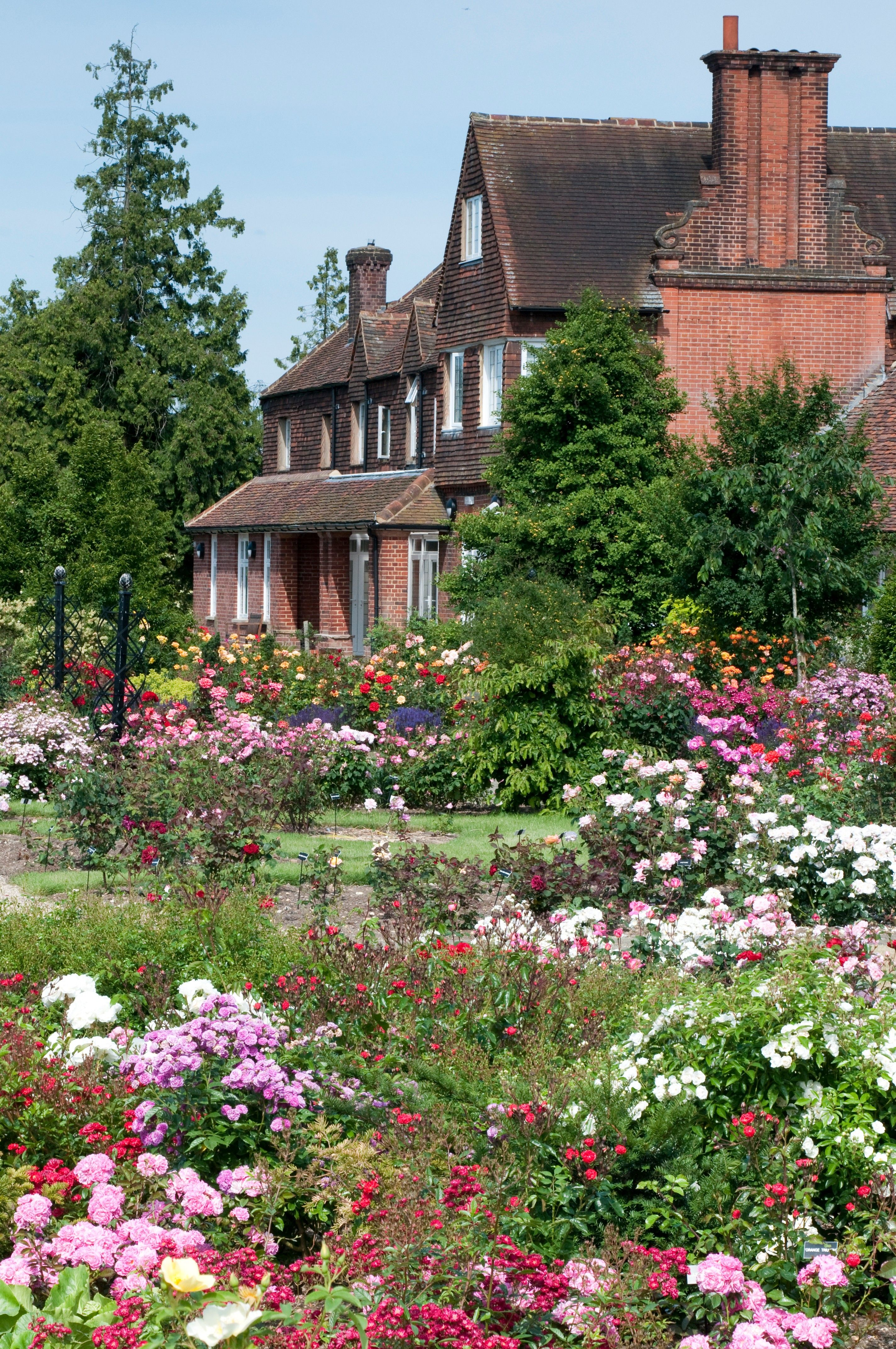 english country house gardens of the rose hertfordshire england