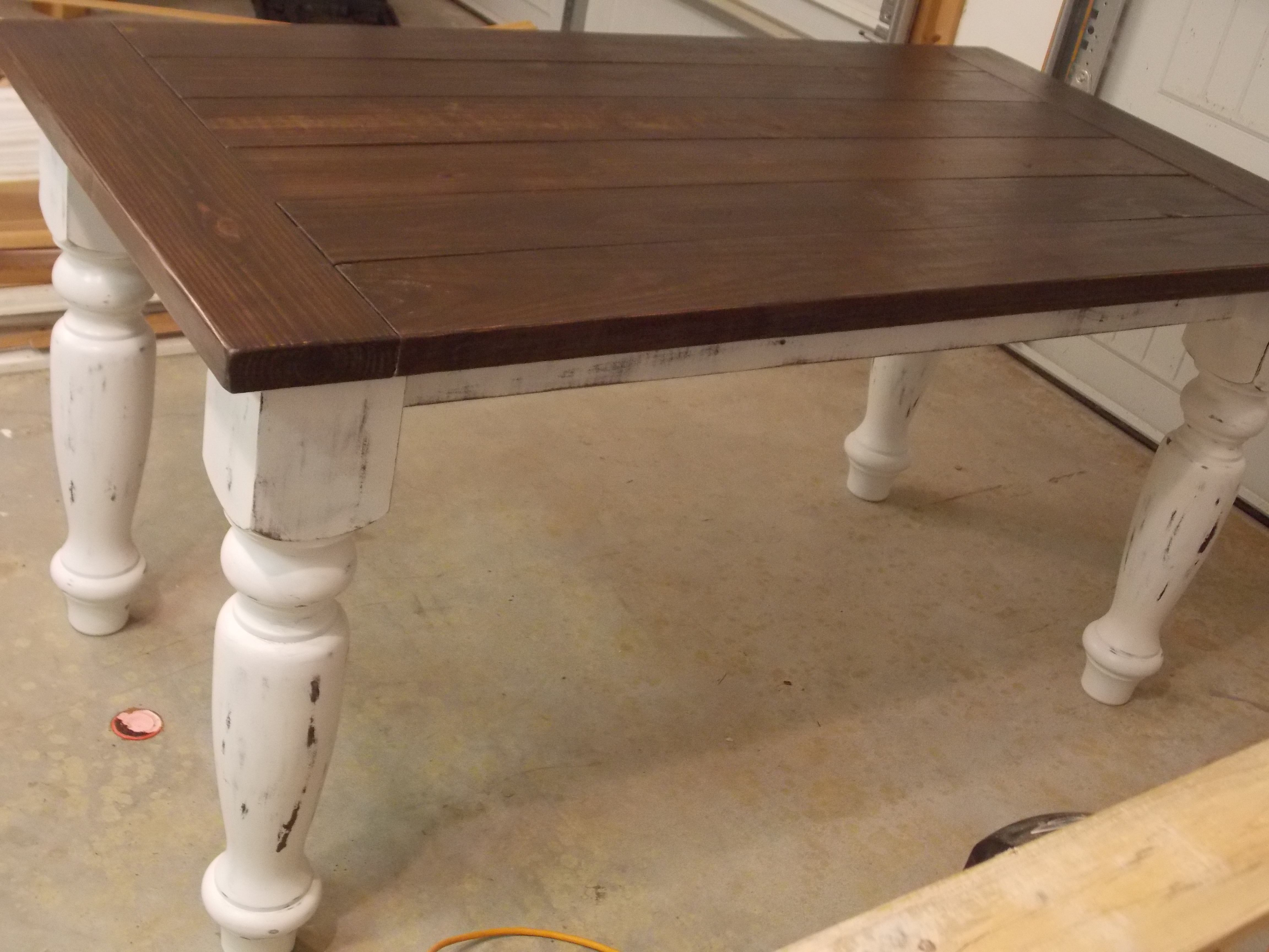 Turned Leg Farmhouse Table Do It Yourself Home Projects