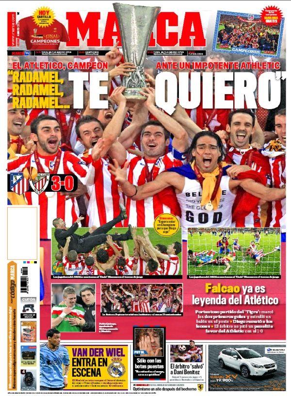Portada del 10 de Mayo de 2012 Atletico de madrid