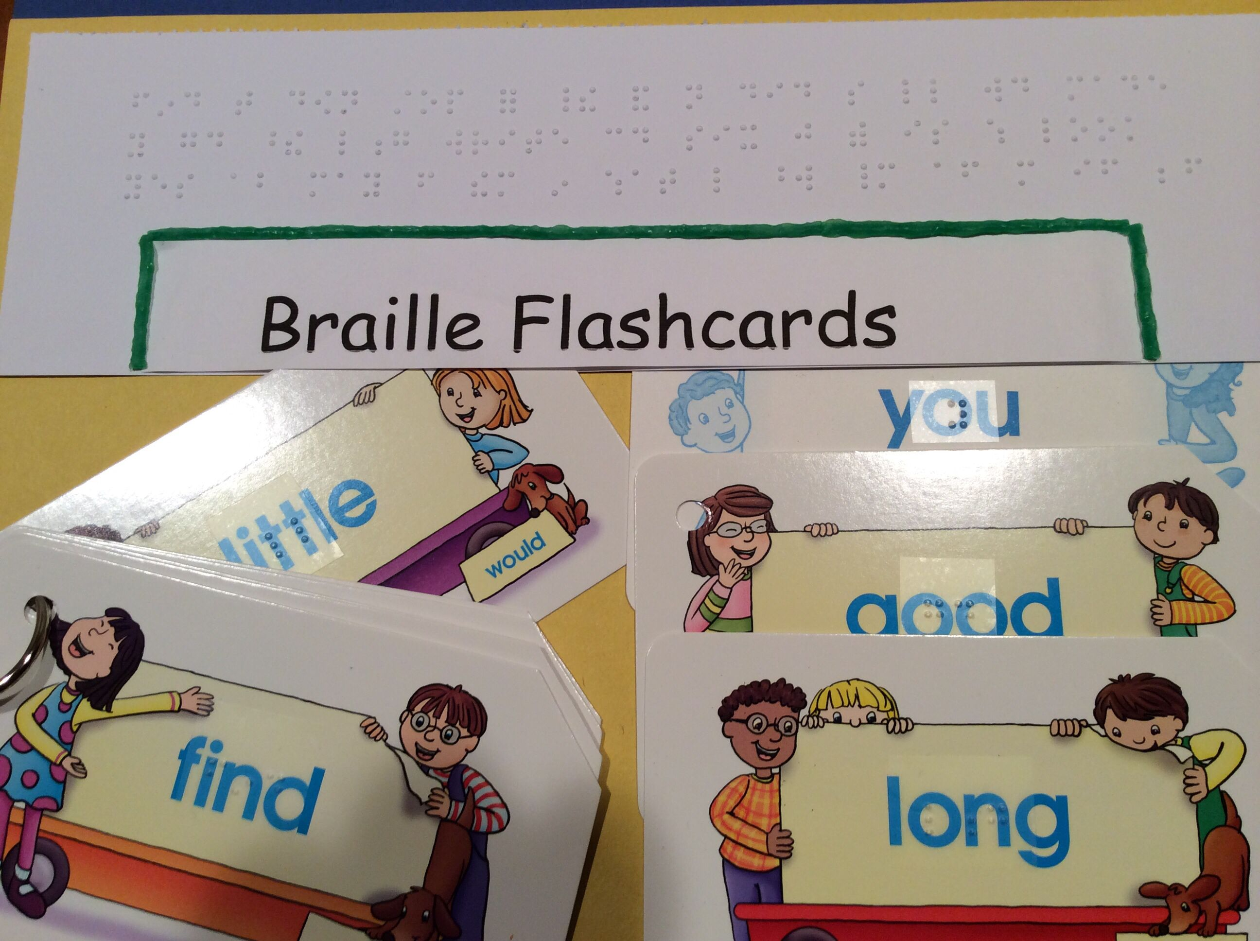 Braille Flashcards Make Them A Part Of Your Students