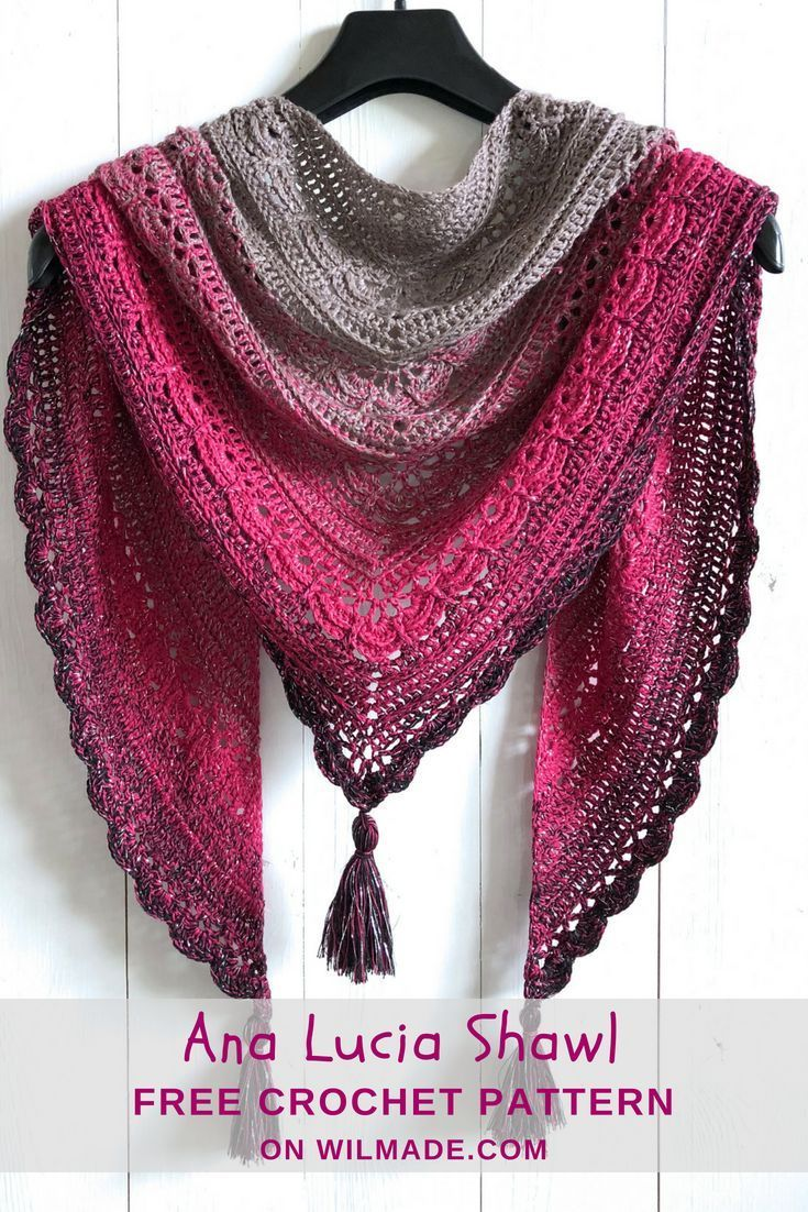 Ana Lucia Shawl - free crochet shawl pattern by | Pinterest | Easy ...