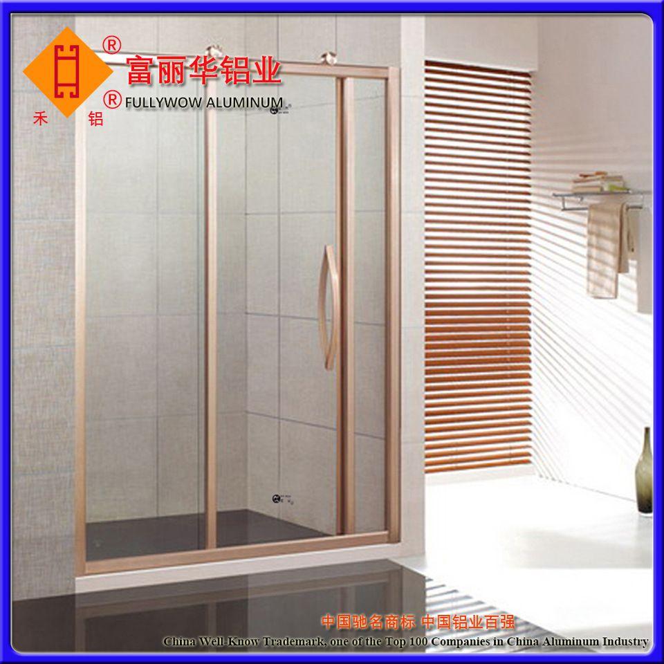 Popular Design Aluminum Sliding Door for Bathroom with
