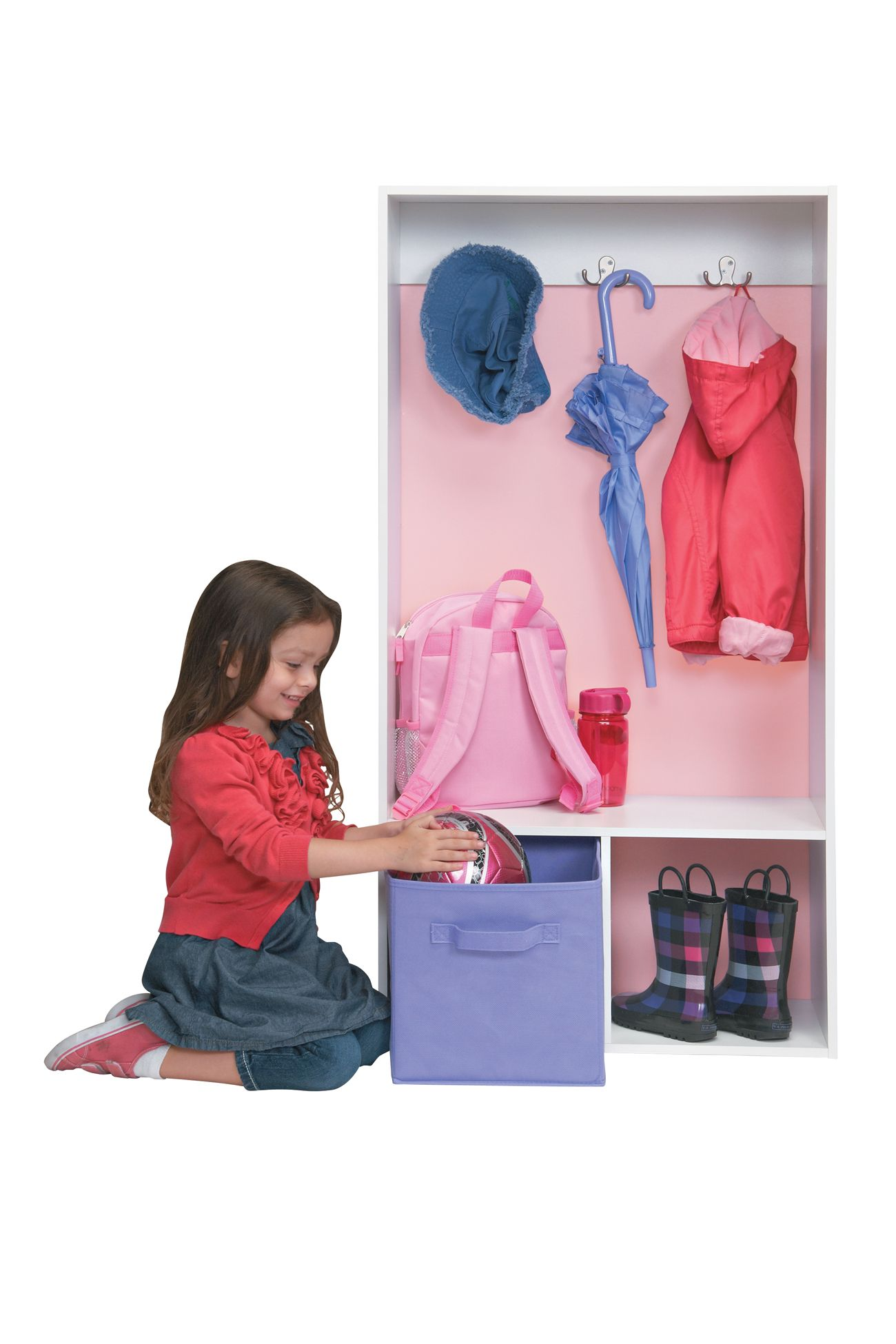 Keep Kids Organized With A ClosetMaid Storage Locker And Fabric Drawers.  #clutterfree #organize #storage