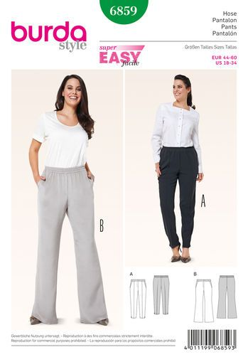Burda Style Pattern 6859 Plus to Size 60 | Plus-sized sewing ...