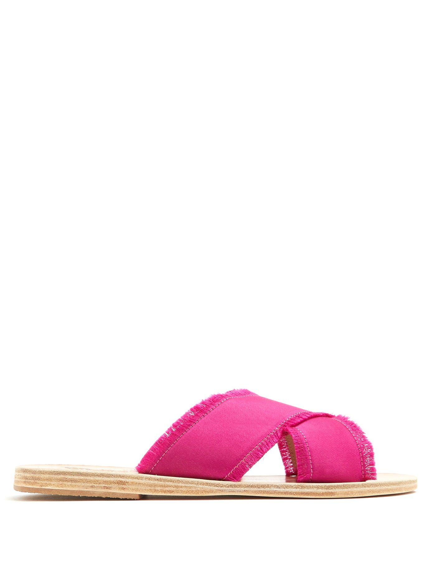 Thais Satin Slides Ancient Greek Sandals zdmq5EyLb