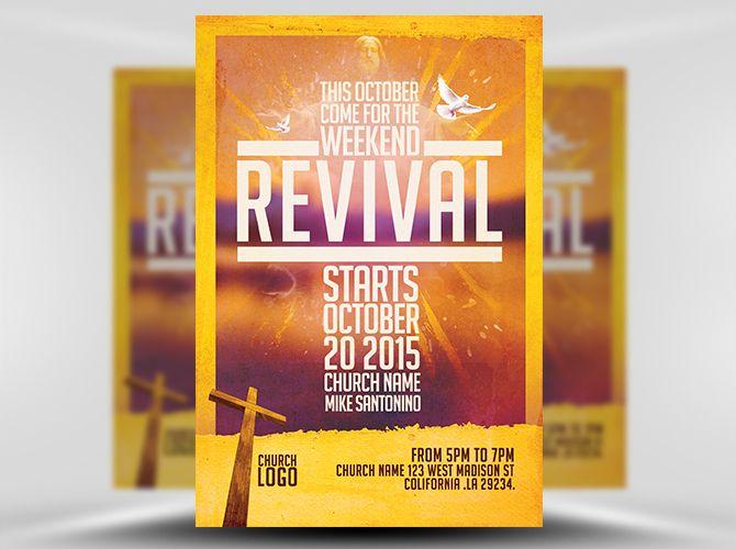 Church Revival Flyer Template FlyerHeroes 1 Catolico Church - christian flyer templates