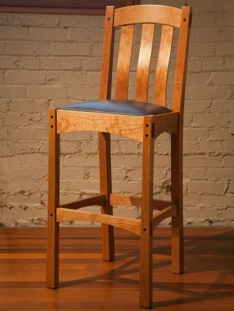 Arts and Crafts style bar stool