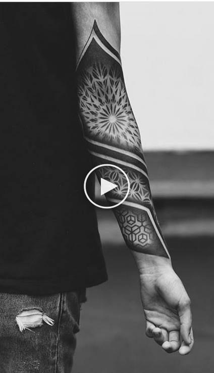 Las Mejores Ideas De Tatuajes Para Hombres En El Brazo Ideas De Blackwork Armel Best Black Geometric Sleeve Tattoo Tattoo Sleeve Men Sleeve Tattoos