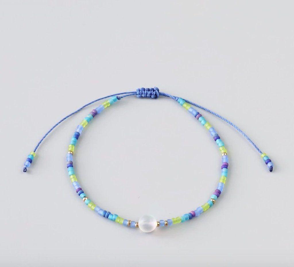 Turquoise jewelry mermaid jewelry minimalist bracelet dainty bracelet stacking bracelet simple bracelet beaded bracelet gift|for|women gift