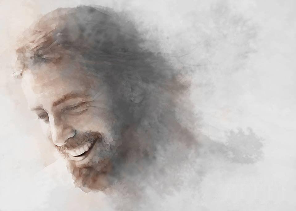 Image result for prophetic art Jesus smiling