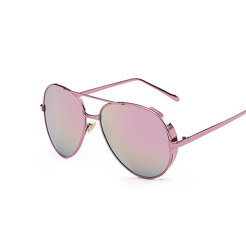 821b6e1f61 2017 Aviation Sunglasses Women Brand Designer Retro Sun Glasses for Women  Rose Gold Ladies Sunglasses Lunette