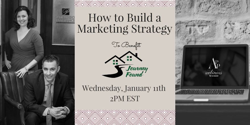 Last call for today's #insurance #marketing #webinar for a cause! Today we are hosting a webinar focused on building a successful marketing strategy in 2017, with all profits going to the Journey Found organization. We're kicking off at 2 PM EST, so register while you still can!   https://www.eventbrite.com/e/webinars-for-a-cause-journey-found-tickets-28603401544