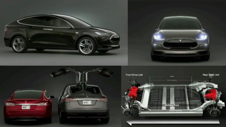 Telsa Model X Winged Doors And Higher Ground Clearance Than S