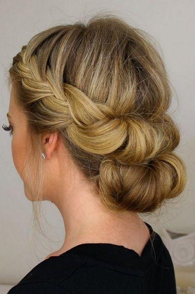 24 Peinados Ideales Para Las Damas De Honor Peinados Cabello Corto Peinados Y Peinado Y Maquillaje