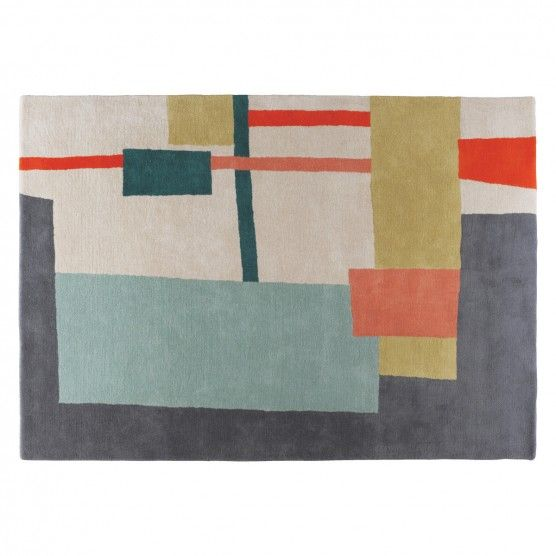 Quentin Large Multi Coloured Wool Rug 170 X 240cm Buy Now At Habitat Uk Wool Rug Rugs Tufted