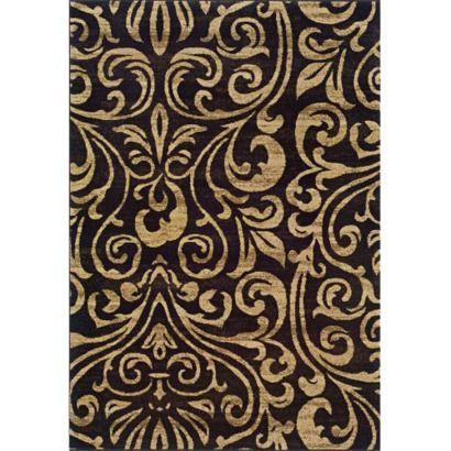 Emerson Emily Area Rug Beige Black 5x7 6 Love Chocolate Brown