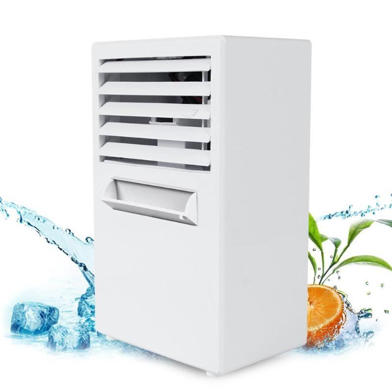 Alloet Usb Air Cooler Mini Air Conditioner Machine Personal Table Air Cooler Purifier Humidifier Summer Cooling Air