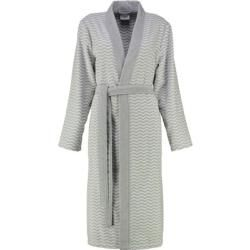 Photo of Accappatoio cawö donna kimono a zig zag 5488 bianco-argento – 76 – Xl Cawö