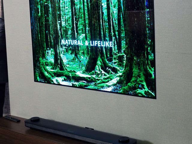This wallpaper TV sticks to your wall using