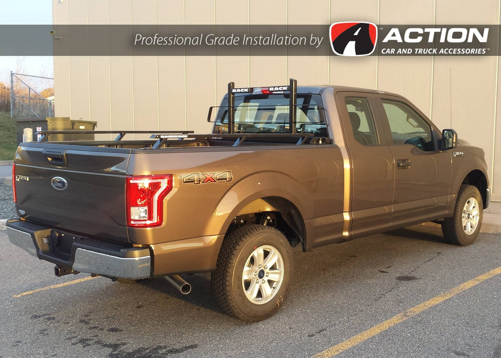 Cab Guard And Bed Rails By Backrack Inc Installed On This New F150 By Our Store In Saint John Nb Profe Truck Accessories Automotive Accessories Antique Cars