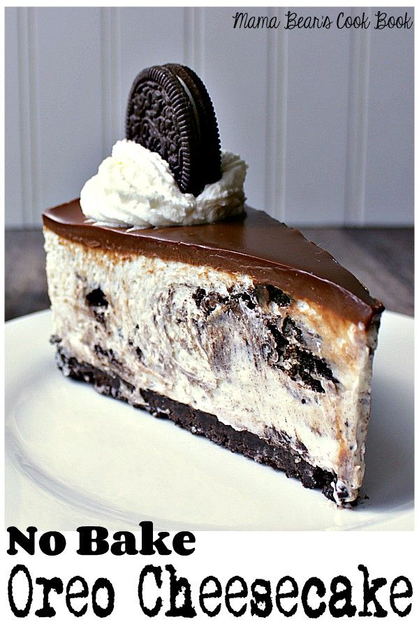 No Bake Oreo Cheesecake Recipe Desserts No Bake Oreo Cheesecake Oreo Cheesecake
