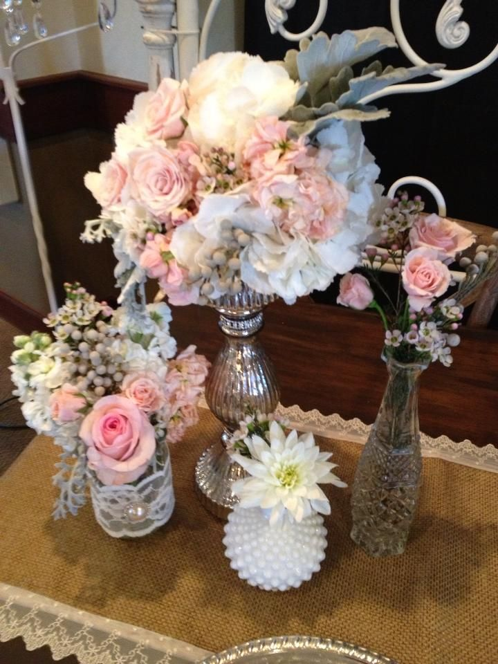 Vintage Shabby Chic Centerpiece Shabby Chic Centerpieces