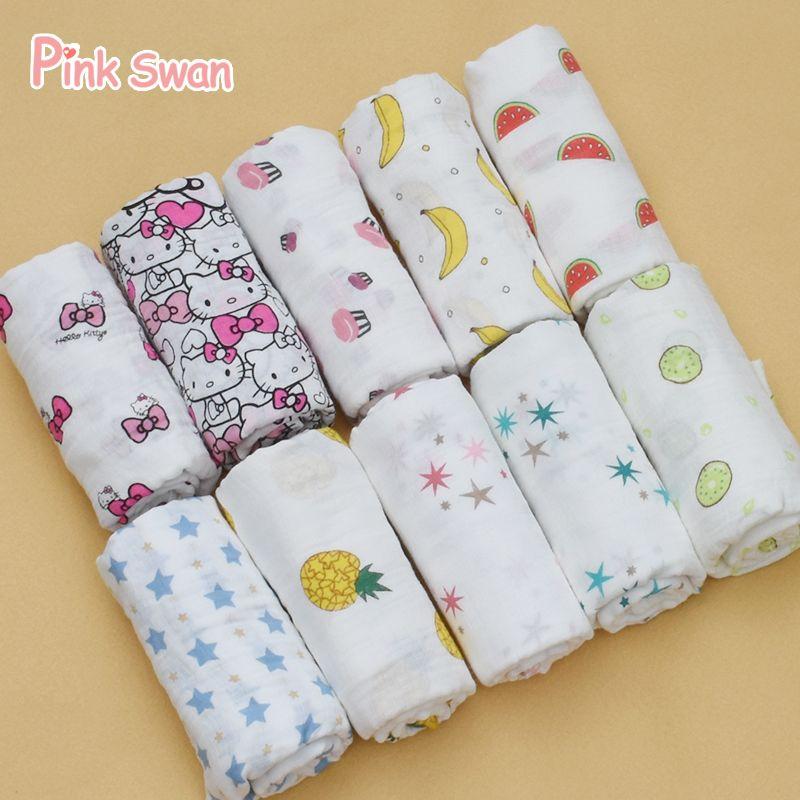 Muslin Cotton Newborn Infant Swaddle Baby Soft Blanket Wrap Towel CB
