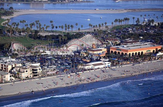 Mission Beach boardwalk, San Diego, CA | Places I've Been ...