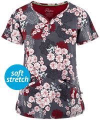 ee7b2dc24f7 Healing Hands Premiere Isabel Origami Floral Print Scrub Top in 2019 ...