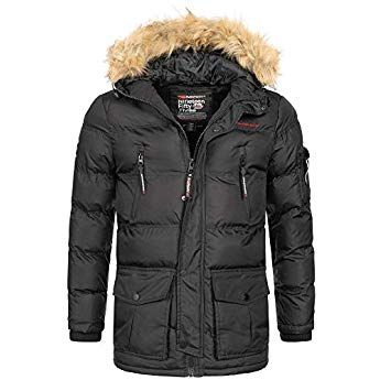 Geographical Norway Herren Winterjacke Mantel Parka Jacke