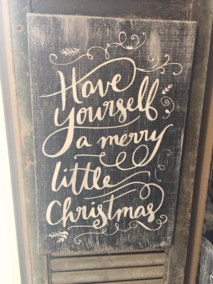 Have Yourself A Merry Little Christmas Sign.Pin On Wooden Sign Crafts