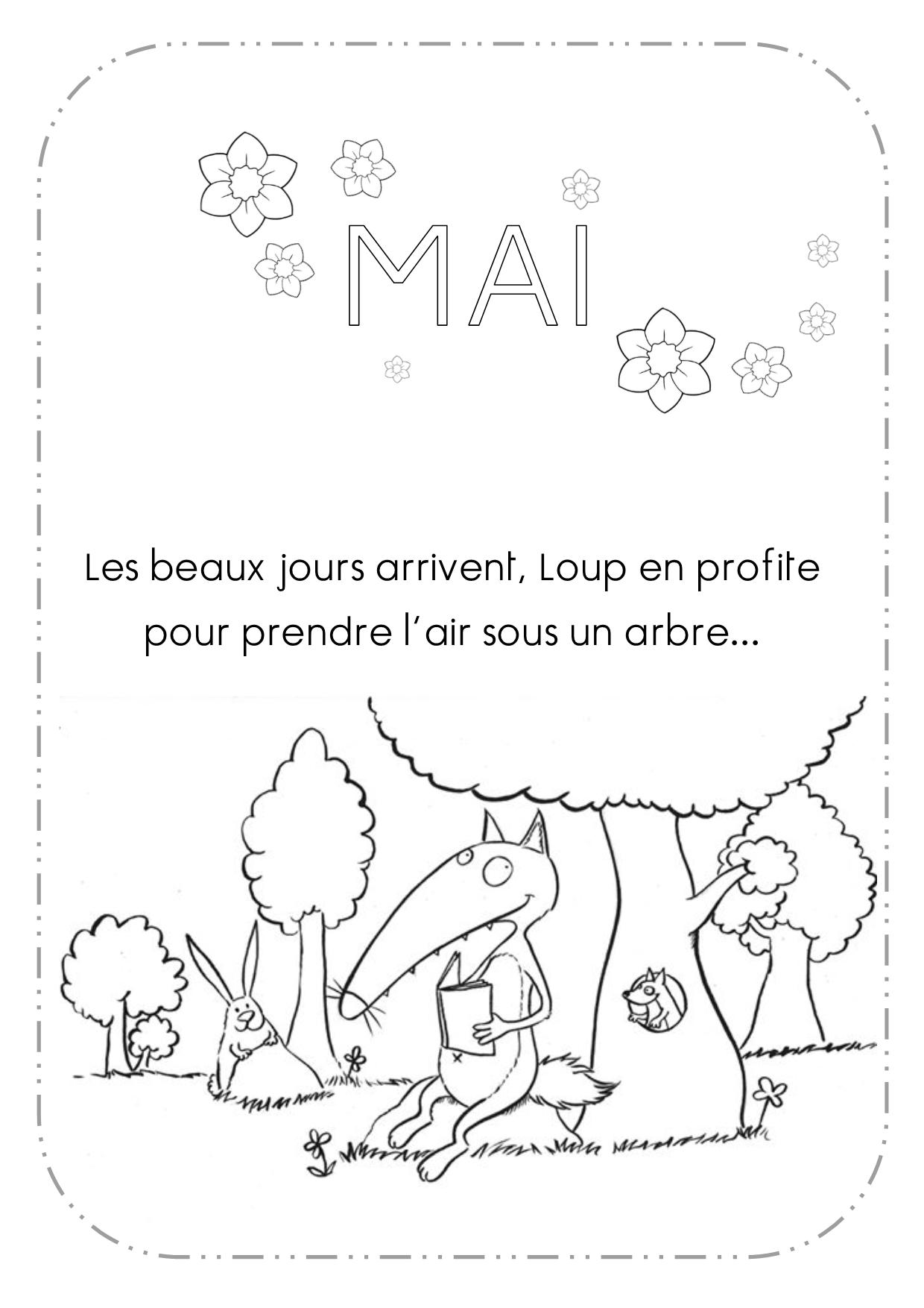 Pingl par kathy leroy sur kid activities crafts loup wolf craft activities for kids et - Coloriage p tit loup ...