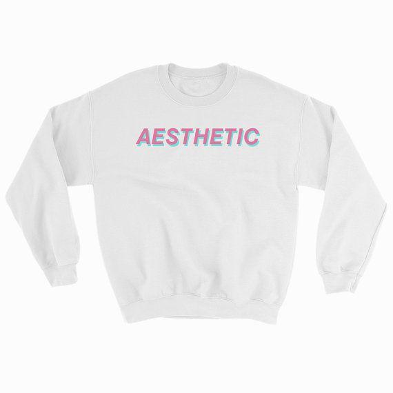 Aesthetic Vaporwave Crewneck Sweatshirt By Artsy Kit Gildan Heavy Blend Crewneck Sweatshirt Available In Light Light Shirt Gildan Sweatshirts Sweatshirts