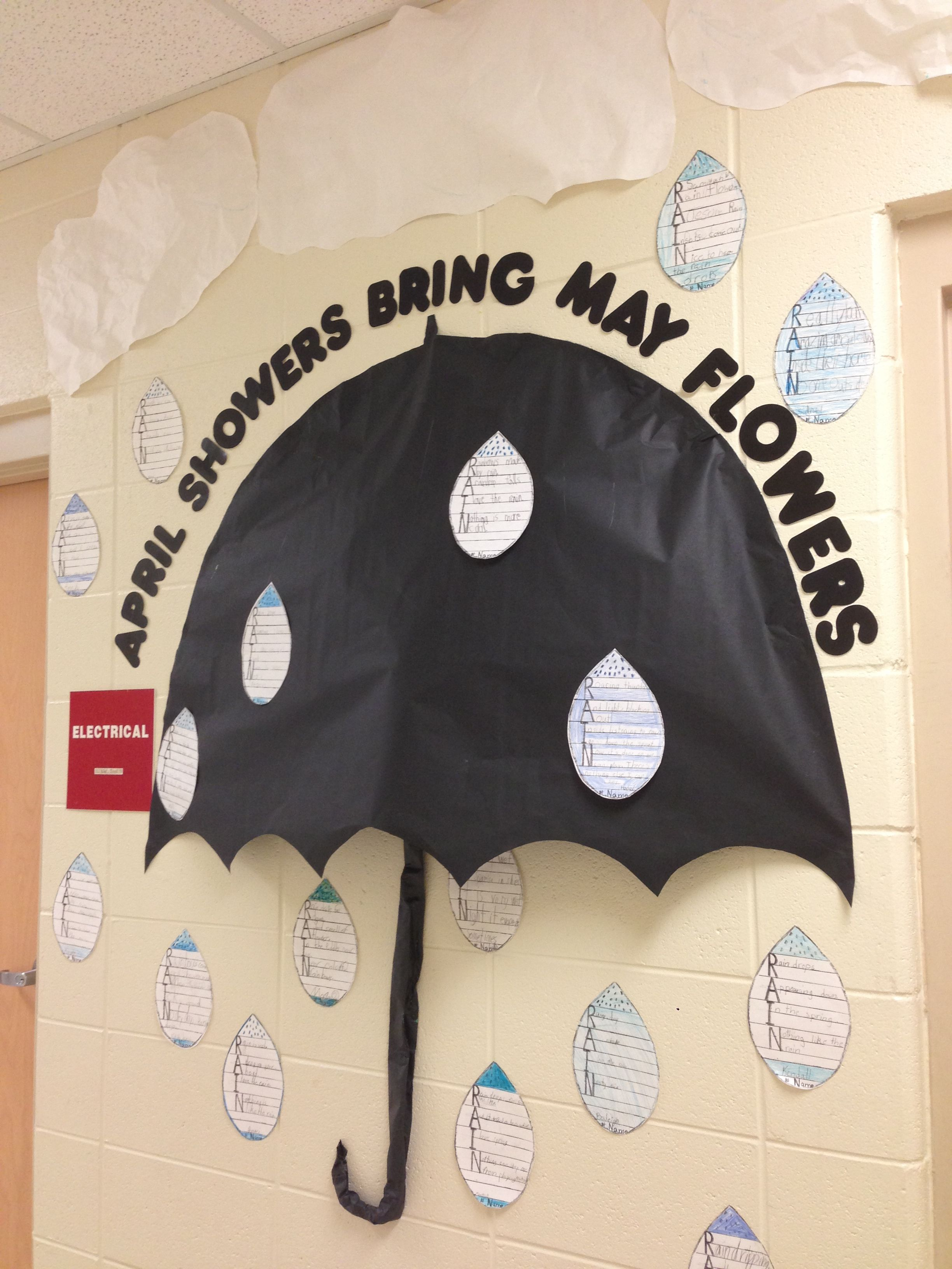 April Showers Bulletin Board