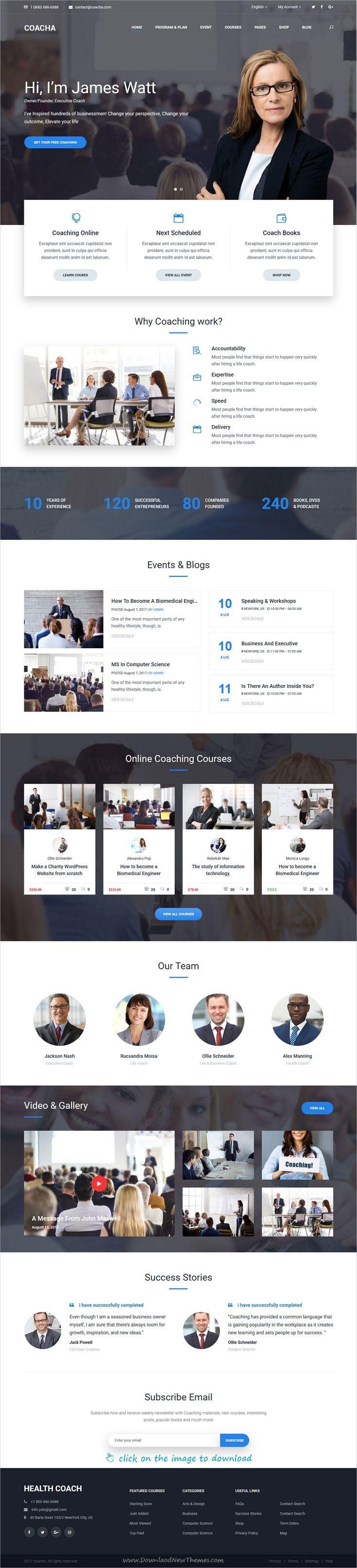 Coach Health and Coaching WordPress Theme   Wordpress and Premium ...