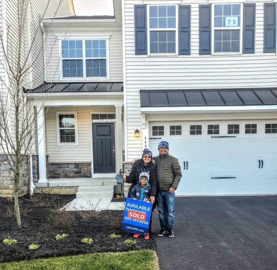 Happy homeowners at waterloo reserve eagle homes