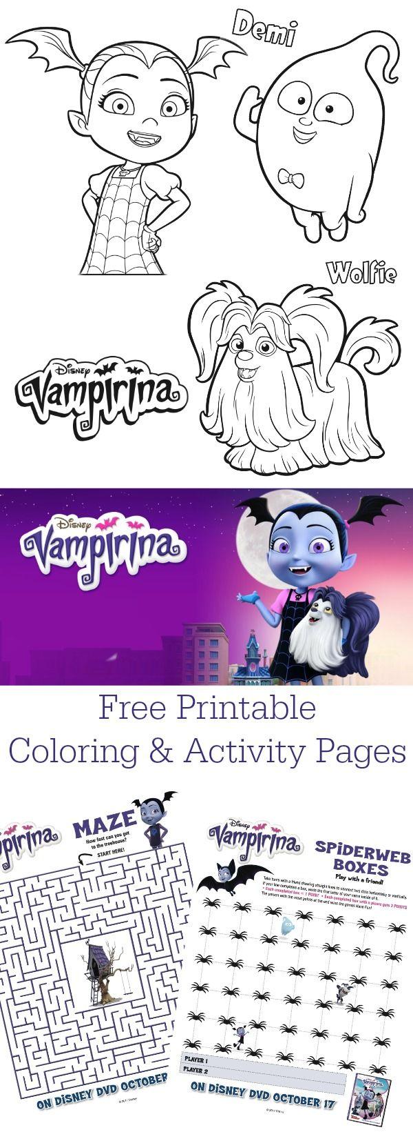 Download free printable Disney Junior Vampirina coloring ...