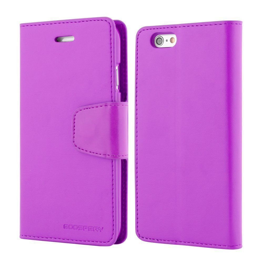 Iphone 5 5s Se Genuine Mercury Goospery Purple Leather Flip Case X Fancy Diary Black Brown Wallet Cover