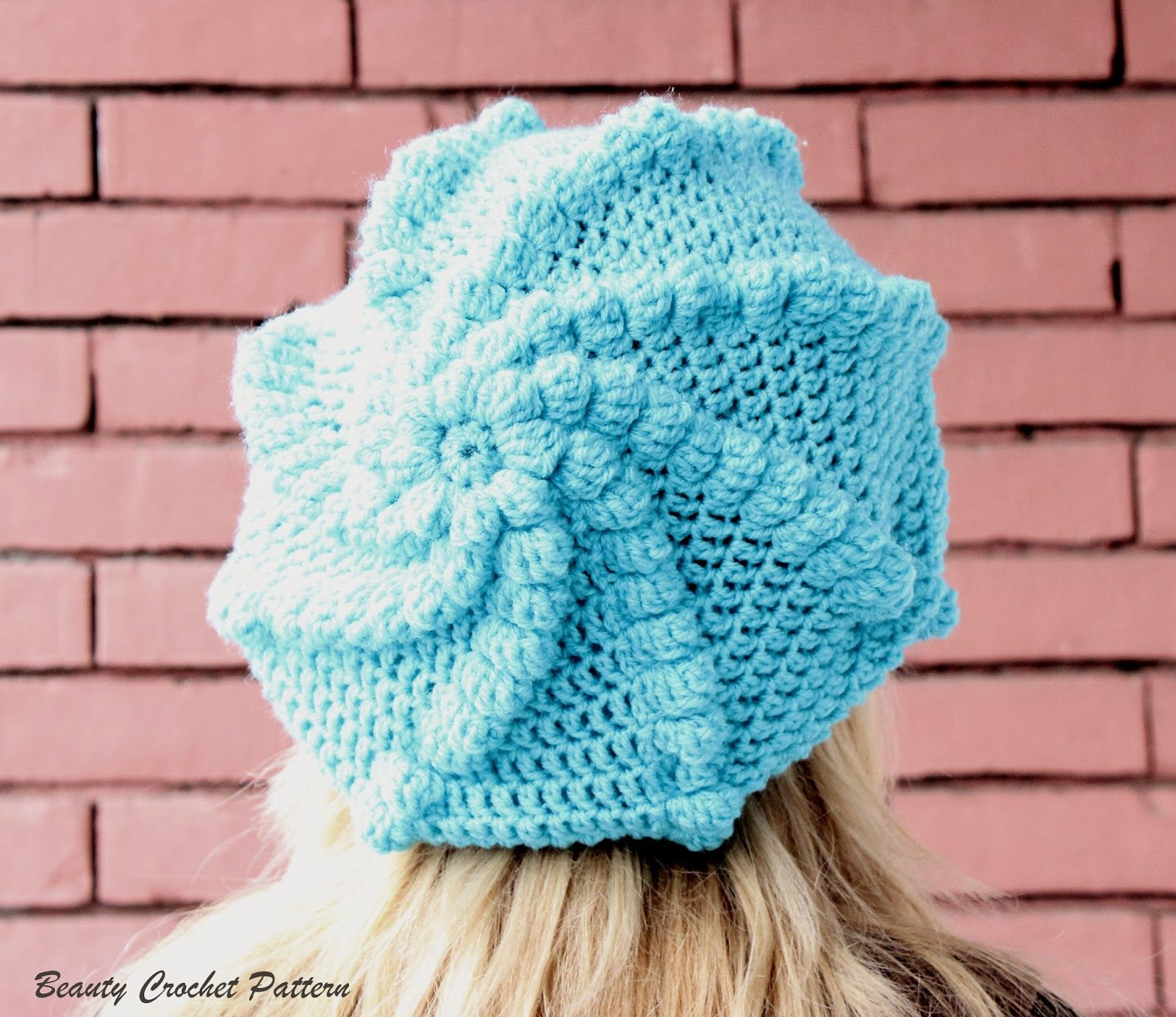 Beauty Crochet Pattern: Crochet Slouch Bubble Beret Pattern ...