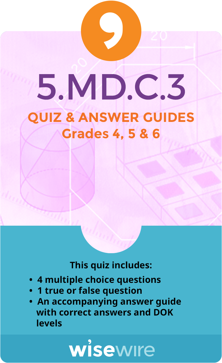 5.MD.C.3 - Quiz and Answer Guide
