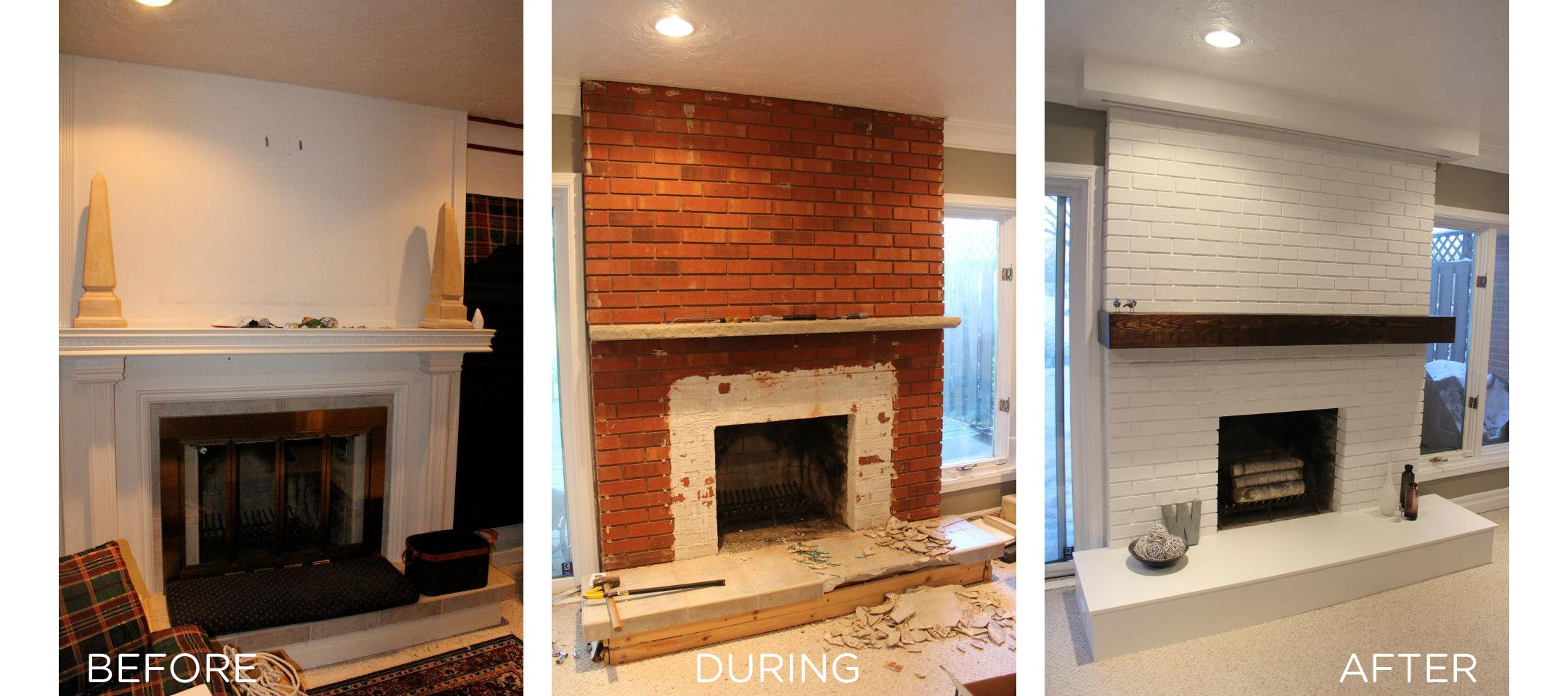 Fireplace Reno With 80 Hidden Projector Screen