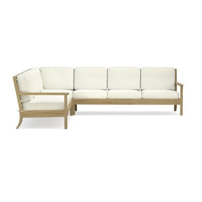 Somerset 3 Piece L Shaped Outdoor Teak Sofa Sectional Williamssonoma Furniture Sale Outdoor Sofa Sectional Sofa
