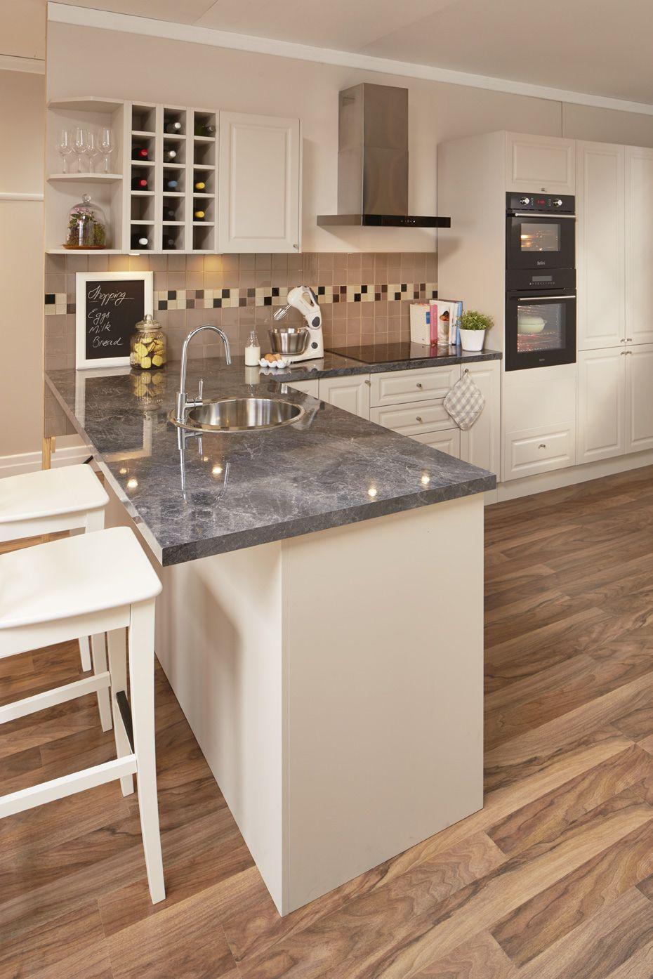 kaboodle 2400 x 600 x 38mm black granite benchtop stone benchtop kitchen kitchen design on kaboodle kitchen enoki id=12433