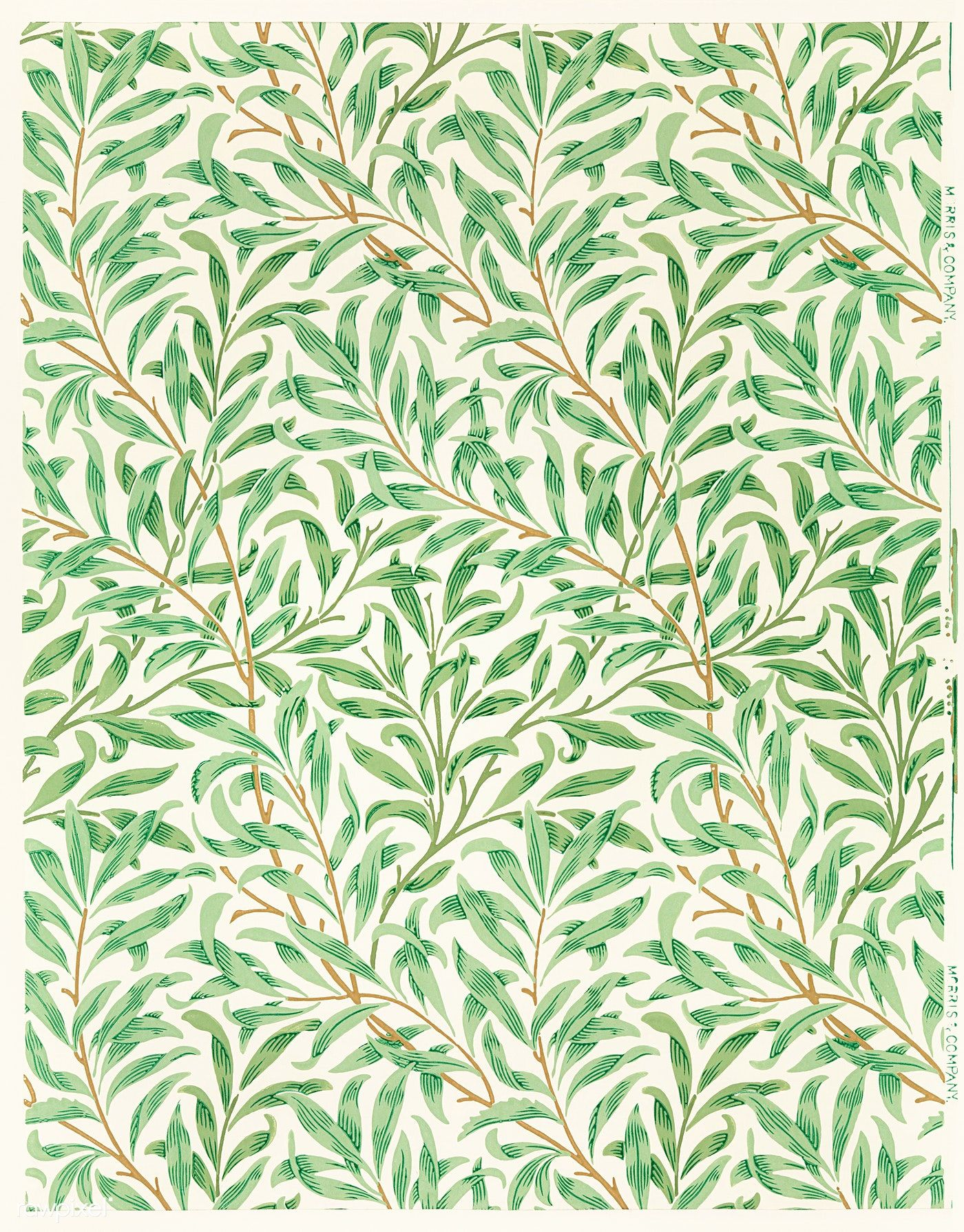 Vintage Willow Bough Vintage Illustration Wall Art Print And Poster Design Remix From The Orig In 2020 William Morris Wallpaper Morris Wallpapers Illustration Wall Art