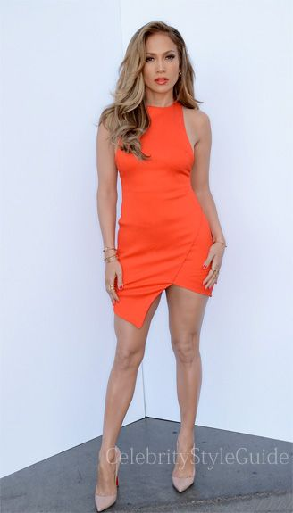 Seen on Celebrity Style Guide: Jennifer Lopez wore this bright ...