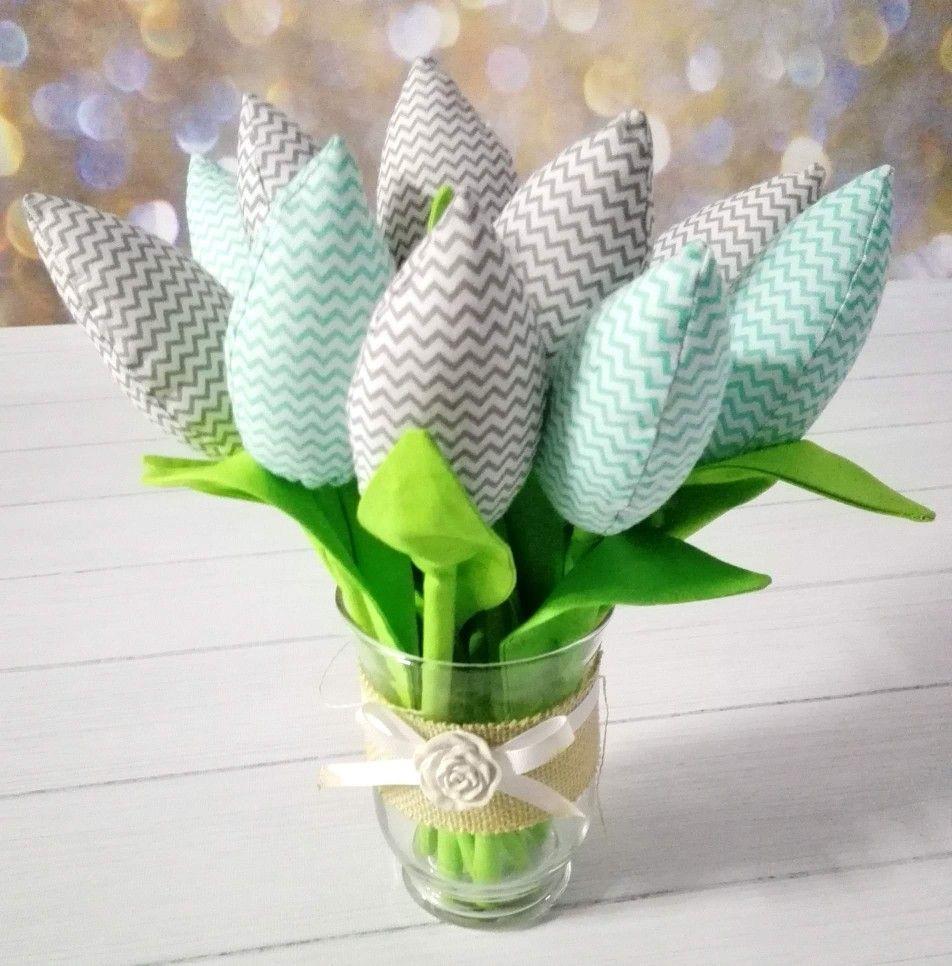 Dzien Matki Dzien Babci Prezent Kwiaty Recznie Szyte Cactus Plants Glass Vase Decor