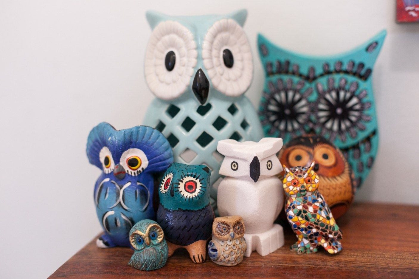 Collected Owl Souvenirs From Around The World Choosing Figs Owl Decor Owl Collection Owl