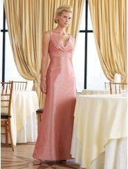 A-Line Taffeta Lightly Pleated Bodice V-Neckline Bridesmaids Dresses (MBBC11022)