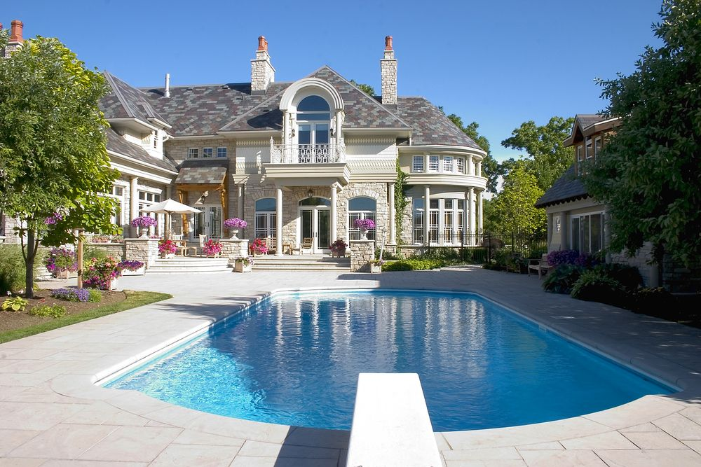 Mansion With Indoor Pool With Diving Board